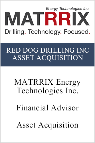 RedDog Drilling Inc Asset Acquistion